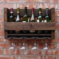 Simply+Rustic+6+Bottle+Wall+Mount+Wine+Rack+with+4+by+KeoDecor,+$55.00