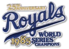 2010 Kansas City Royals 25th Anniversary MLB Baseball Patch as 1985 World Series Champions