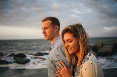 Romantic seaside engagement by M. Newsom Photography on Savannah Soiree - Tybee Island