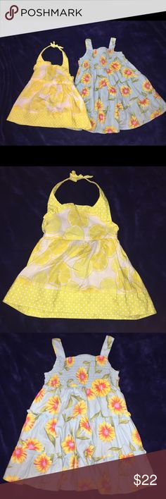 2 sundresses! 🌞 3T ⭐️Yellow dress- Gymboree brand.  3T. EUC. ⭐️Blueberi Blvd. brand. 3T. EUC. Dresses Casual