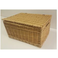 Buff Willow Wicker Storage Chests, the same length and width as our Buff Willow Large and X-large Storage Baskets. Exclusive to Choice Baskets. Wicker Basket With Lid, Wicker Baskets, Large Storage Baskets, Trunks And Chests, Storage Chest, Snug, Decorative Boxes, Decorative Storage Boxes, Woven Baskets