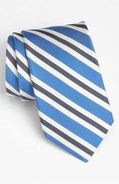 Nordstrom Woven Silk Tie available at #Nordstrom  blue and black