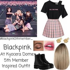 Blackpink Fashion, Ulzzang Fashion, Kpop Fashion Outfits, Stage Outfits, Edgy Outfits, Retro Outfits, Korean Outfits Kpop, Concert Dresses, Cute Skirt Outfits