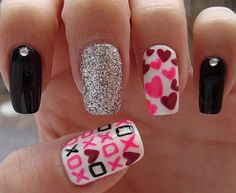 Uñas decoradas con corazones, besos y más para San Valentín – Parte 4 – Love Nails