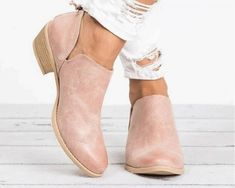 Shoes Style:Zipper Occasion:Casual Toe Type:Round Toe Heel Height:Low Style:Casual Heel Type:Chunky Heel Lining Material:Leather Upper Material:PU Theme:Summer,Spring/Fall Color:Black,Pink,Beige Short Ankle Boots, Low Heel Ankle Boots, Chunky Heel Shoes, Ankle Booties, Heeled Boots, Shoe Boots, Women's Shoes, Rain Boots, Stylish Boots