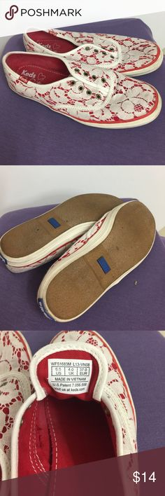 Really cute lace over red keds Really cute ladies keds Keds Shoes Athletic Shoes