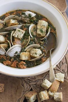 Spicy Clam and Kale Soup
