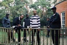Wiley, Jammer, Stormzy & Novelist on set of 'On A Level' video shoot Dir by Skepta