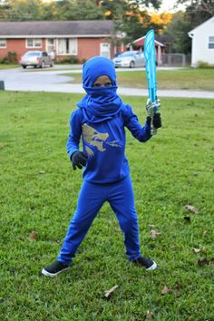 This year for Halloween the girls wanted to be Jay and Kai from Lego Ninjago.      I was excited that they didn't want to be Anna or Elsa s...