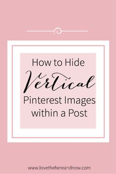 How to Hide a Vertical Image within a Post