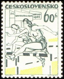 Stamp%3A%20%E2%80%9CUniversiada%201965%2C%E2%80%9D%20Brno%20(Czechoslovakia)%20(Sports%201965)%20Mi%3ACS%201507%2CSn%3ACS%201281%2CYt%3ACS%201370%2CSg%3ACS%201458%2CAFA%3ACS%201352%2CPOF%3ACS%201413%20%23colnect%20%23collection%20%23stamps