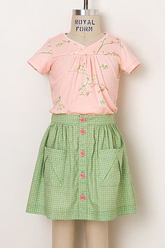Oliver + S Hopscotch Top and Skirt, Views A and C