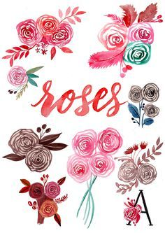 An Easy Way To Paint Rose Blooms (with Video)- tutorial to painting roses with watercolour in a super easy way! Step by step photos and video included.