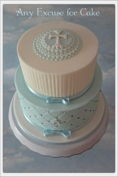 Christening+cake++-+Cake+by+Any+Excuse+for+Cake                                                                                                                                                     More