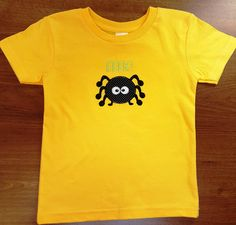 Spider Halloween T Shirt for kids, Spider, Halloween, T Shirts, Holiday Shirts, Holiday T Shirts, Spiders, Creepy, Fun Shirts for Kids by LucysButtonBoutique on Etsy