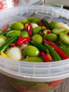 Ravioli, Fruit Salad, Preserves, Pickles, Cucumber, Food And Drink, Veggies, Cilantro, Fruit Salads