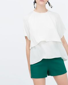 Image 1 of LAYERED SLEEVE TOP from Zara
