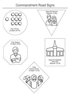 free lds clipart to color for primary children | service ...