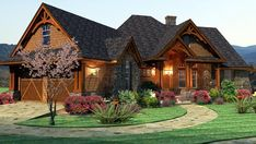 Cottage Craftsman Ranch Tuscan House Plan 65867 This is my favorite, I love everything about it! Tuscan House Plans, Family House Plans, Ranch House Plans, Cottage House Plans, Cottage Homes, House Floor Plans, Cottage Style, Craftsman Ranch, Craftsman Style House Plans