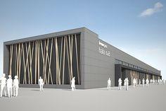 Projekt modernizacji hali Kronospan w Szczecinku. | Architekt: biuro Poznań - projekt nowoczesnego domu pasywnego, projekty biur i wnętrz.