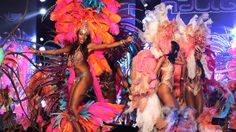 The island nation of Trinidad and Tobago boasts one of the world's largest carnivals. Dating back to the pre-Lenten celebration blends French,