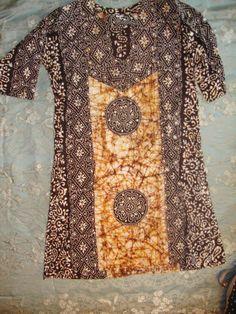 Batik tunic dress 3 4 sleeve  Unbranded  Tunic Modern Clothing 286d9e50f44
