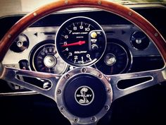 Nice Shelby Mustang Wood wheel with instrument cluster pic