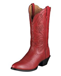 Every girl needs a RED pair of boots!