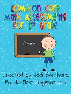 This packet includes quick math assessments for every 1st grade Common Core Math Standard.  The packet is perfect for creating a Math Assessment bi...