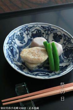 天神祭の定番料理:蛸の子と三度豆、新小芋の煮合せ