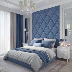 Exquisite bedroom in the Zilart LCD. - Design Cointrend News Bedroom Wall Designs, Bedroom Bed Design, Bedroom Furniture Design, Modern Bedroom Design, Room Ideas Bedroom, Home Room Design, Home Decor Bedroom, Staging Furniture, Modern Luxury Bedroom