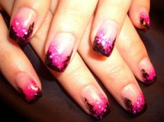 Pretty Nail Designs for Brighten Up Your Days: Pink Black Pretty Nail Art Hipsterwall ~ frauenfrisur.com Nails Inspiration