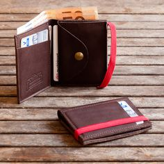 Mens leather Wallet Mens Wallet Mens Wallet With Coin by Gazur