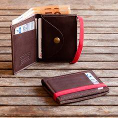 Mens leather Wallet Mens Wallet Mens Wallet With Coin by Gazur