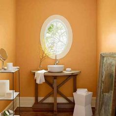 For a color that flatters almost every skin tone, consider Benjamin Moore's August Morning. It's stimulating, like red, but instead of being energetic and empowering, it's balancing and grounding.   Photo: Courtesy of Benjamin Moore   thisoldhouse.com