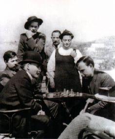 Nikita Khrushchev. Lenin playing chess