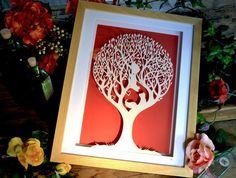 'Squirrel Tree' - Original Papercut