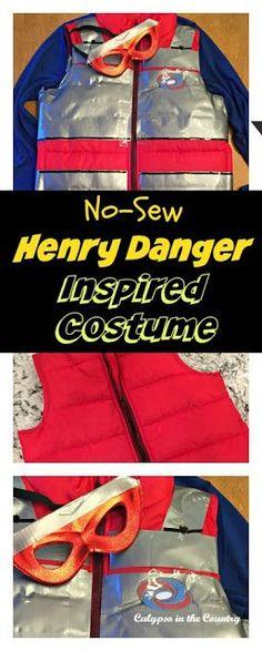 No Sew Henry Danger (aka Kid Danger) Inspired Costume - start planning for Halloween!