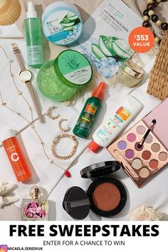 Refreshing body care, SPF essentials and sun-kissed beauty are all you need for an easy , brezzy summer. No purchase necessary. Open to legal residents of the 50 U.S. & DC, including authorized independent Avon sales representatives, 18 and older. Sweepstakes ends 11:59 p.m. ET 07/31/21. Best Selling Makeup, Avon Sales, Online Sweepstakes, Free Makeup, Body Care, Bath And Body, Sun Kissed, Beauty, Essentials