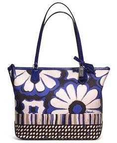 COACH POPPY FLORAL SCARF PRINT SMALL TOTE - All Handbags - Handbags & Accessories - Macy's