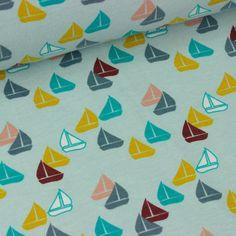 Sailboat Blue - MrsHervi-Studio Saartje - online winkel met designer-, retro- en vintage stoffen en exclusieve patronen