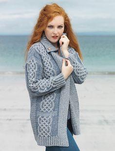 Plaited Merino Wool Coatigan, hooded wool coat, wool hooded coat, For Woman