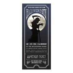 #Halloween Party Ticket Invitation - #Halloween #happyhalloween #festival #party #holiday