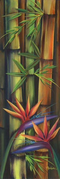 Bamboo  paradise bird by Nadine Ramelb