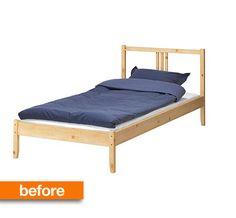UTÅKER Letto impilabile con 2 materassi, pino, Moshult rigido | Ikea ...
