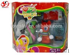 Fun Lovely Horse Merry Christmas. Christmas gift My little pony toy horse with light lovely vinyl horse toy for girls