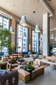 Tour 1 Hotels' new sustainable NYC hotel in Brooklyn Bridge Park - Curbed NYclockmenumore-arrow : After an inauspicious beginning, this eco-luxury oasis debuts on the Brooklyn waterfront