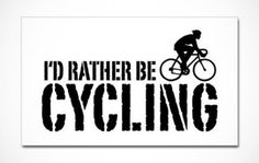 Share your love of bikes with everyone on the road, even when you're behind the wheel with these great cycling bumper stickers. Cool Bumper Stickers, Cycling, Biking, Bicycling, Riding Bikes