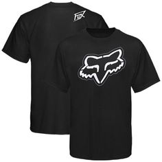 fox carbon black tee