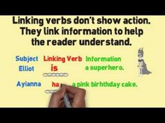 Linking Verbs Song (Linking Verbs by Melissa) really corny but explains it well Third Grade Writing, 6th Grade Ela, 5th Grade Reading, Second Grade, Fourth Grade, Teaching Grammar, Teaching Writing, Teaching Ideas, Teaching Resources